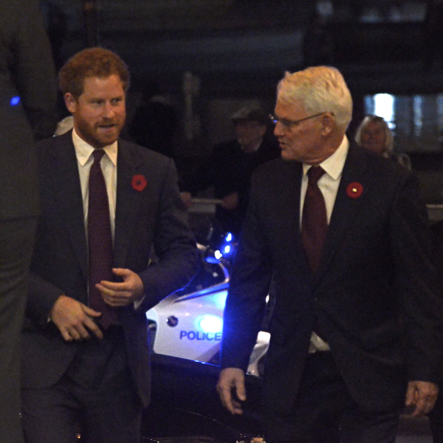 Prince Harry is greeted by High Commissioner Gordon Cambell to Canada House