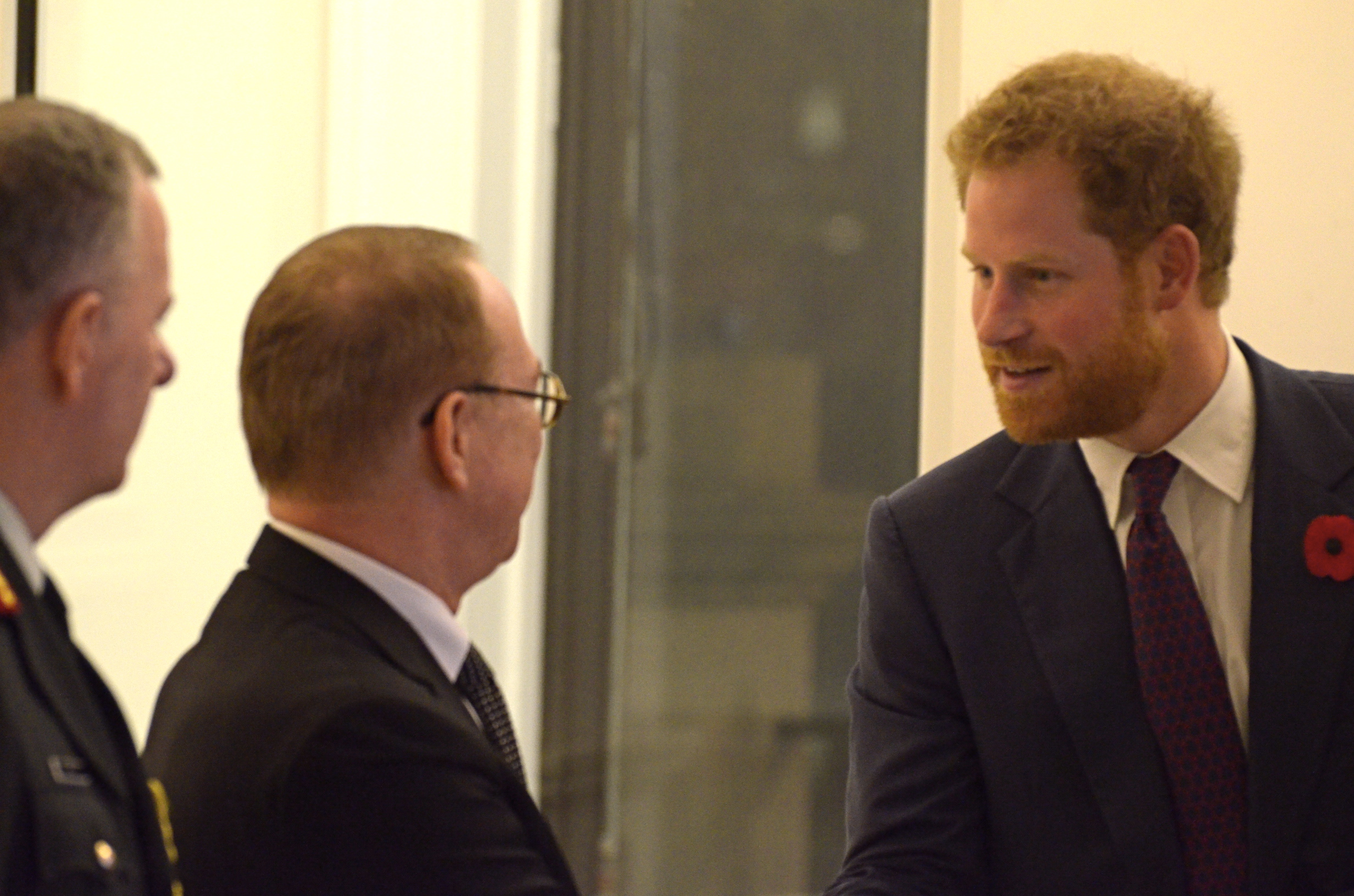 High Commissioner Gordon Cambell welcomes HRH Prince Harry to Canada House November 11, 2015