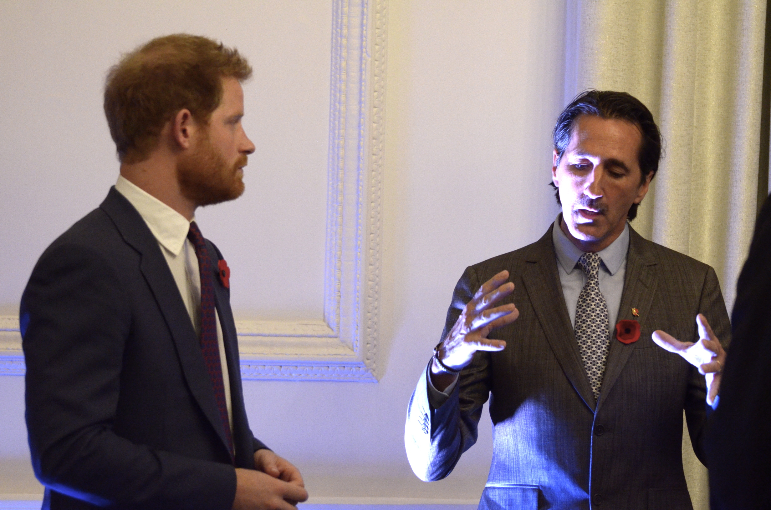Prince Harry discusses Veterans Tribute with Foster