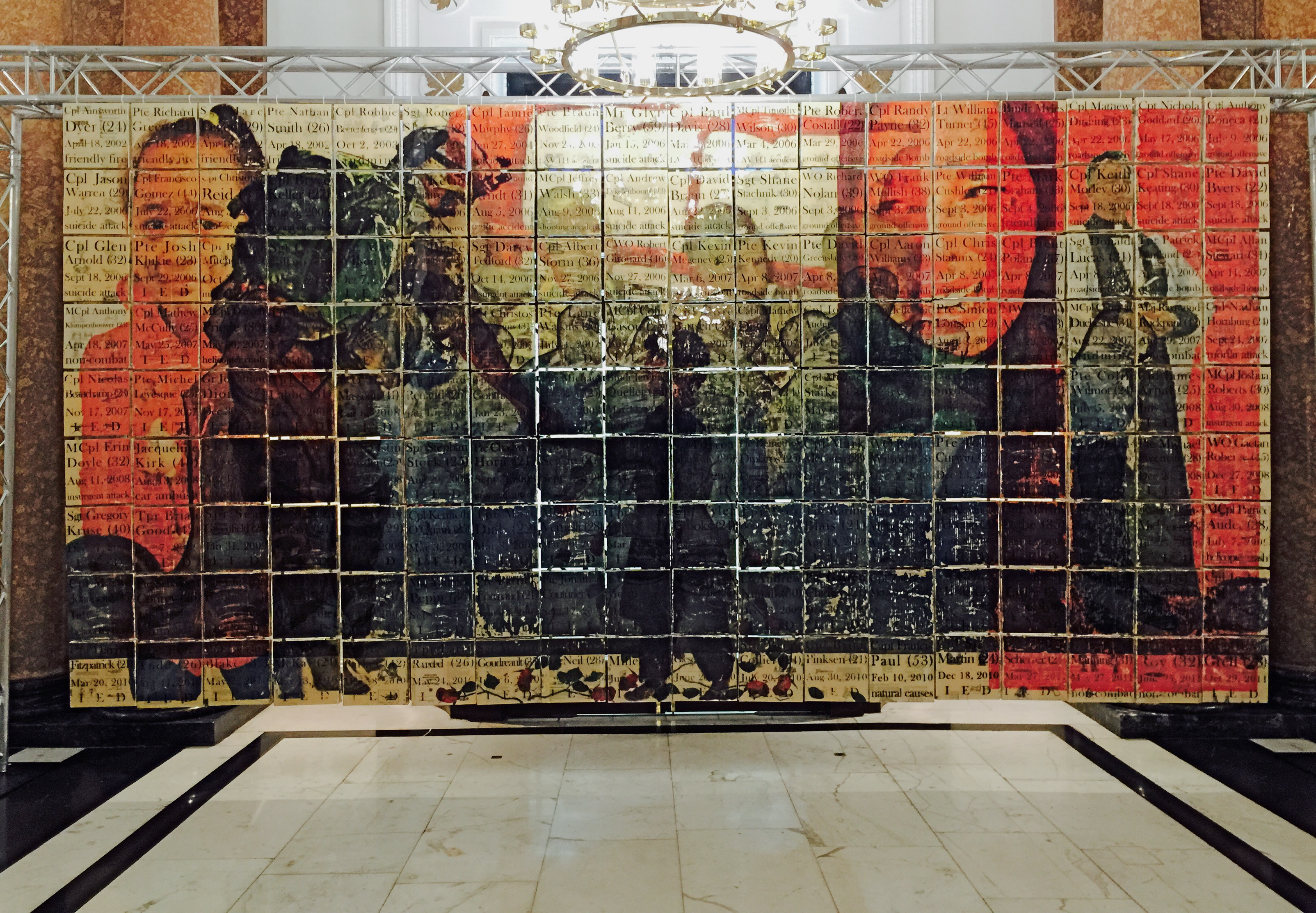lestweforgetCANADA mural exhibit Canada House November 2015