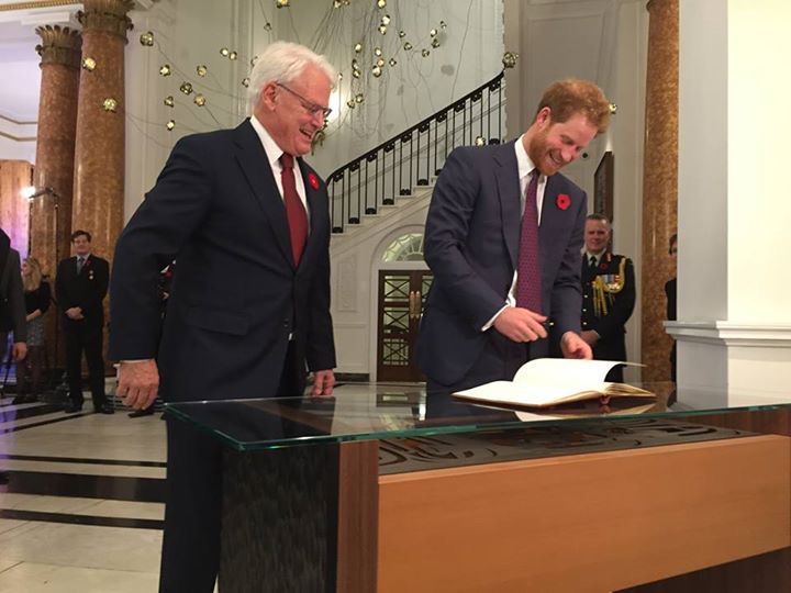 HRH Prince Harry signs Royal Guest Book